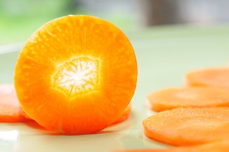 Carrot Cut Show Detail Stock Photo