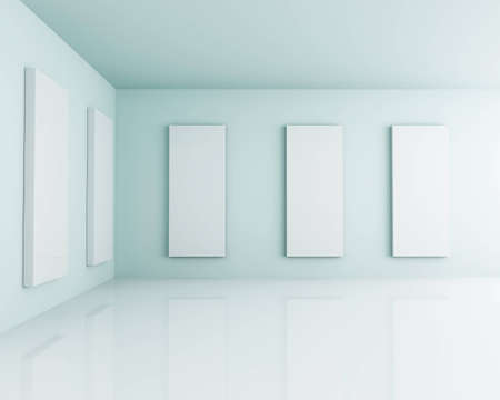 White 3D Interior Room Studio