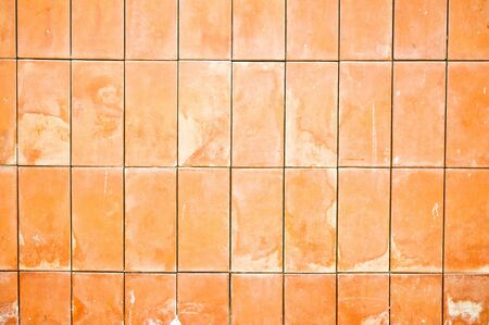 crick: clay brick wall material  Stock Photo