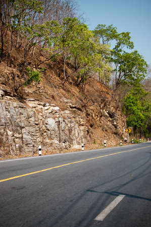 Section mountain detail and road Stock Photo - 12999810