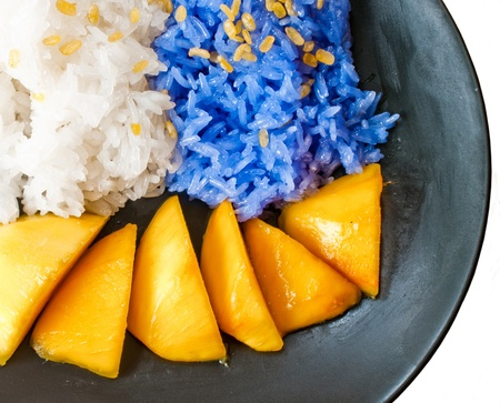 Sticky Rice Mango, a Thai Dessert.