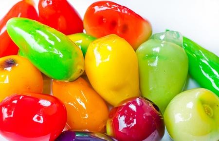 sweetmeats: Sweetmeats fruit on white background isolate