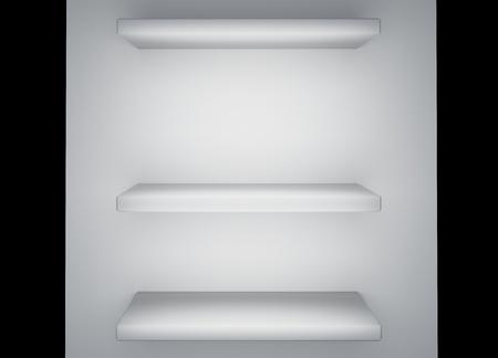 White shelf 3d rendering Stock Photo - 12997769