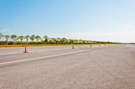 Straat voor racen autogebied Stockfoto