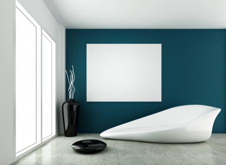 3d rendering for modern form interior design