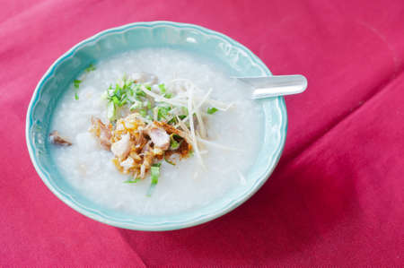 Asian style of rice gruel