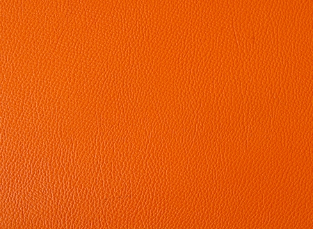 Orange color leather background Stock Photo