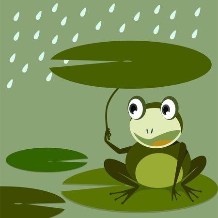 lotus leaf: Frog and Lotus leaf idea