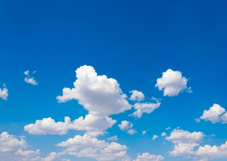 Blue sky and lots small clouds pattern Stock Photo