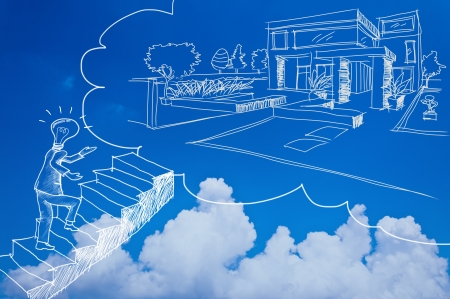 housing loan business with blue sky photo