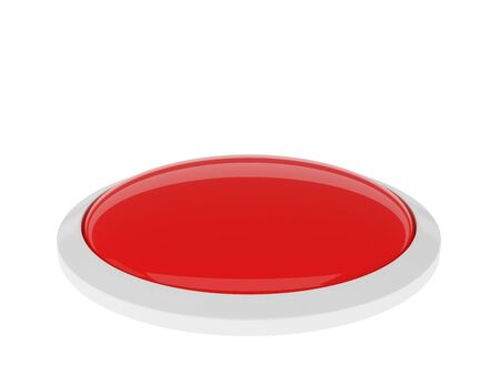 Red button isolated on white background photo