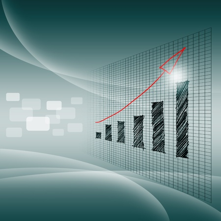 Success of business graph Stockfoto