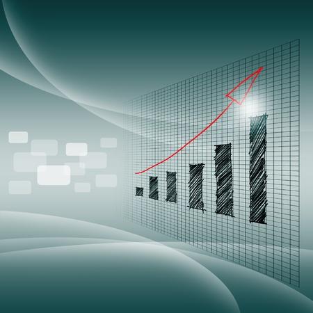 Het succes van zakelijke grafiek Stockfoto - 13907744