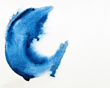 Abstract of water color on white paper Stock Photo