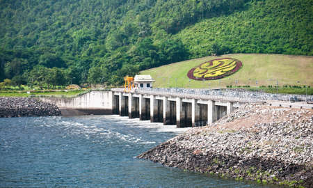 Small of open door at Bhumibol dam, Thailand photo