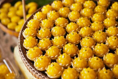 thai dessert: closeup of artificial thai desserts