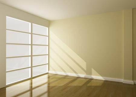lege kamer van het interieur 3D rendering Stockfoto