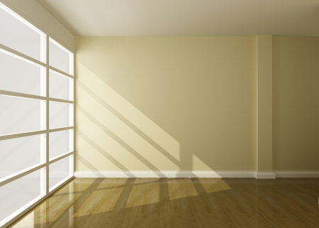 empty room of interior 3d rendering