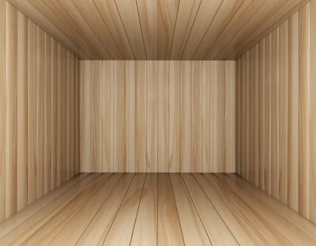Room of wood decorated, 3d rendering Stock Photo - 17133599