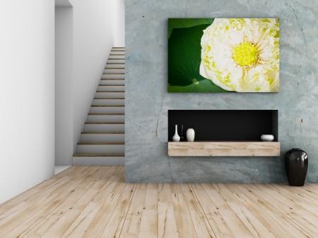 interieur concept, 3D-rendering