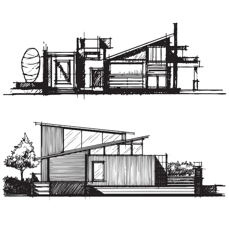 house sketch: Sketch of architecture design