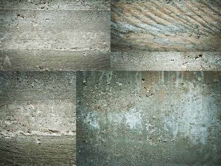 Texture set of concrete wall grunge background Stock Photo - 17814570