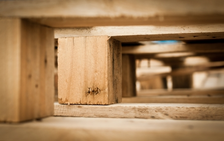 木製パレットの詳細のマクロ 写真素材