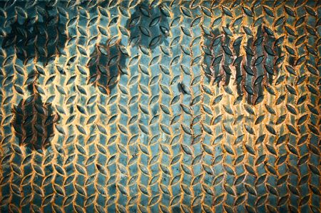 Background texture of grunge metal diamond plate Stock Photo - 21521511