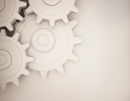 White gear 3d rendering create