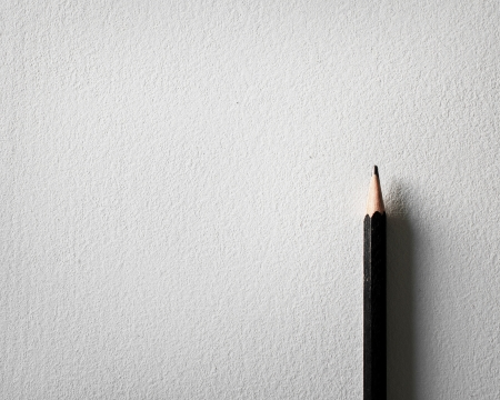 pencil and white paper background