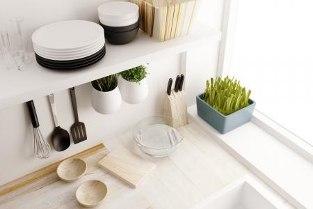 インテリア デザインのキッチン ルーム 写真素材