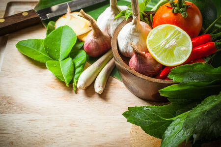 vegetable of food for tom yum element Stock Photo