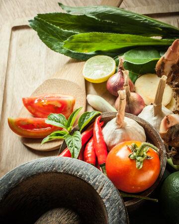 thai basil: vegetable of food for tom yum element Stock Photo