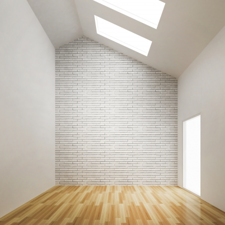 empty room of interior building design