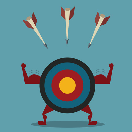 Strong target and arrow business concept Illustration