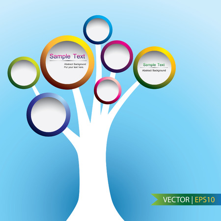Abstract of tree label concept, vector design Vector