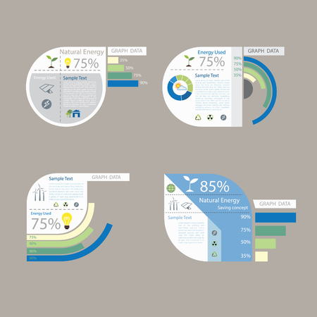 element of graph design for presentation chart  Vector