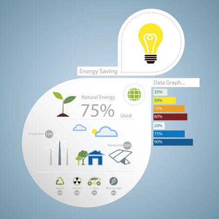 alternative energy: infographic of energy saving concept