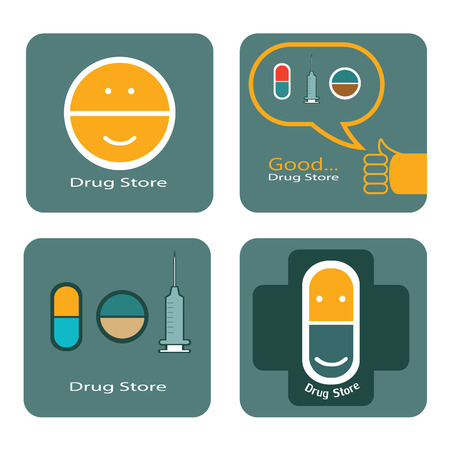 Drug store icon of design Vector