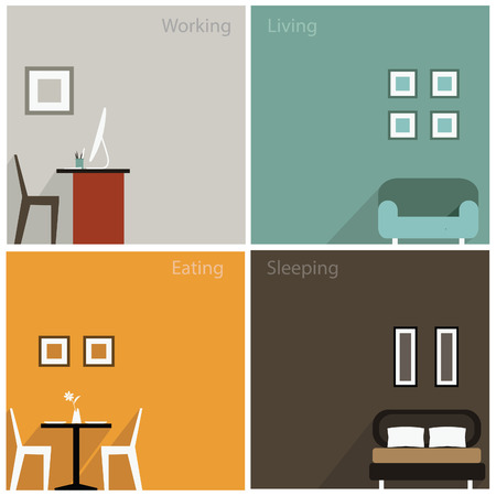 stay home work: Interior concept of collection design