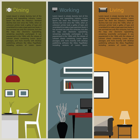 paper folded for interior decoration concept Vector