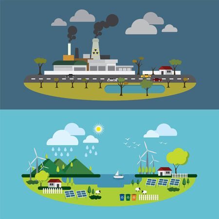 environment friendly: Ecology of city technology and environment conception