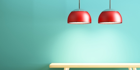 lamp and table of interior decorate Stockfoto