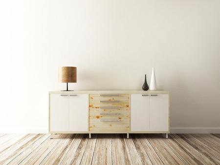 mueble y accesorios de decoración interior Foto de archivo