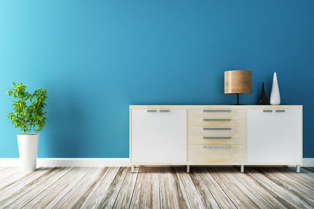 cabinet and furniture of interior decorated Stock Photo
