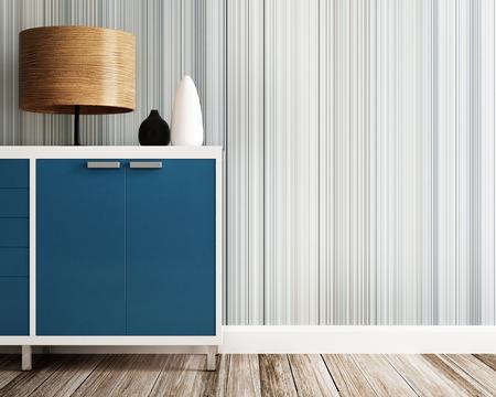 キャビネットや木製のランプのクローズ アップ 写真素材