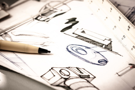 business products: idea sketch of product design