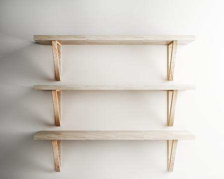 wood shelf decorate of interior