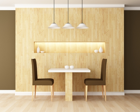 Table and chair in the dining room decoration photo