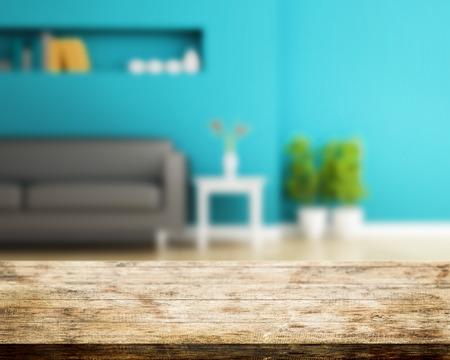 interior design: Sofa and wall decorated of interior design Stock Photo